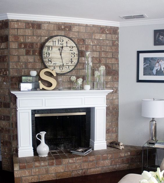 Apartment Locator Austin: 10 Ways To Give Your Brick Fireplace A Makeover